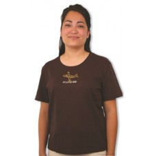 Short-Sleeved Top-Brown